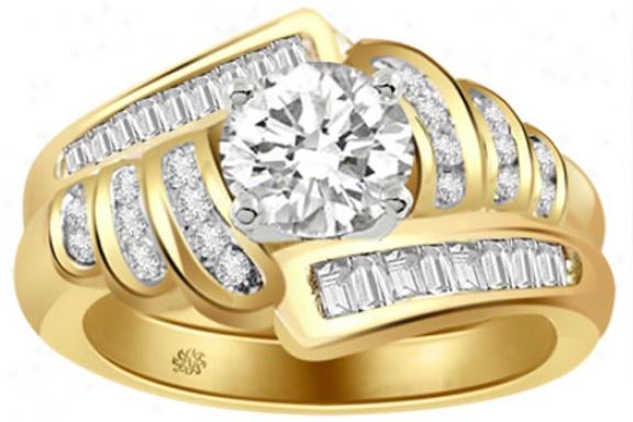 1.10 Carat Devona Diamond 14kt Yellow Gold Engagement Ring