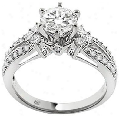 1.16 Carat Makana Diamond 18kt White Gild Engagement Ring