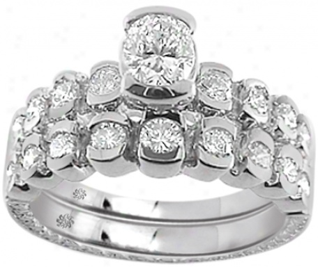 1.32 Carat Janicia Diamond 14kt White Gpld Engagement Ring