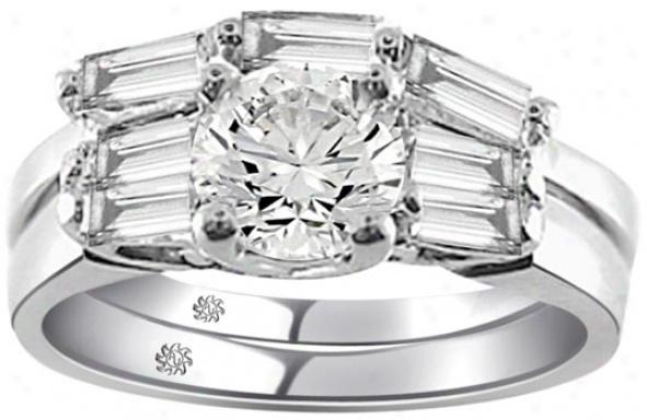 1.40 Carat Ladino2 Diamond 14kt White Gold Engagement Ring