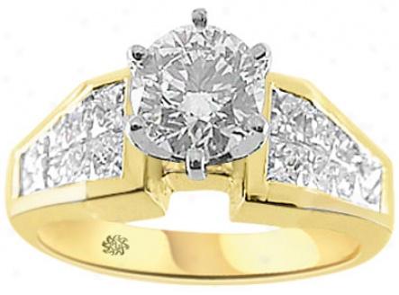 2.11 Carat Kalin Diamond 14kt Yellow Gold Engagement Ring