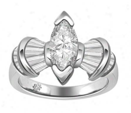 2.15 Carat Dory Diamond 14kt White Gold Engagement Ring