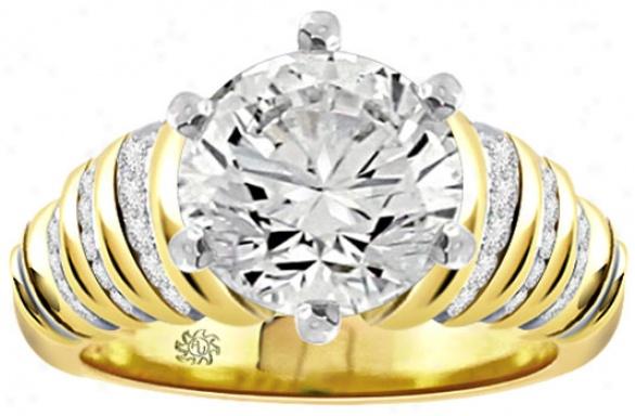 2.577 Carat Larissa Diamond 14kt Yellow Gold Engagement Ring