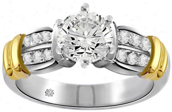 .68 Carat Willa Diamond 14kt White Yellow Gold Engagement Ring