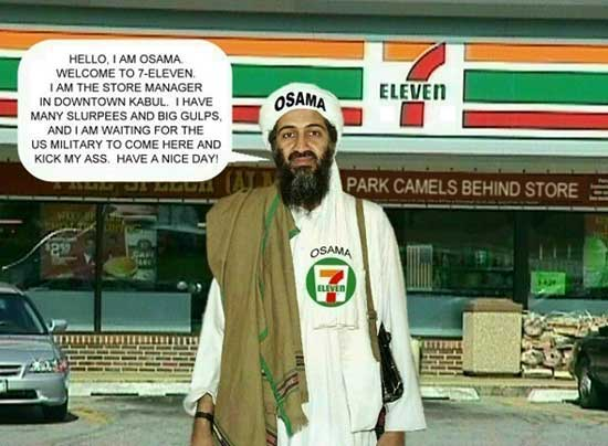 Funny pictures of osama bin laden & Jokes # 1